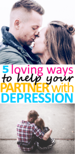 It takes so much strength and courage to love someone with depression. Hopefully these 5 tips to help your partner with depression will help you.