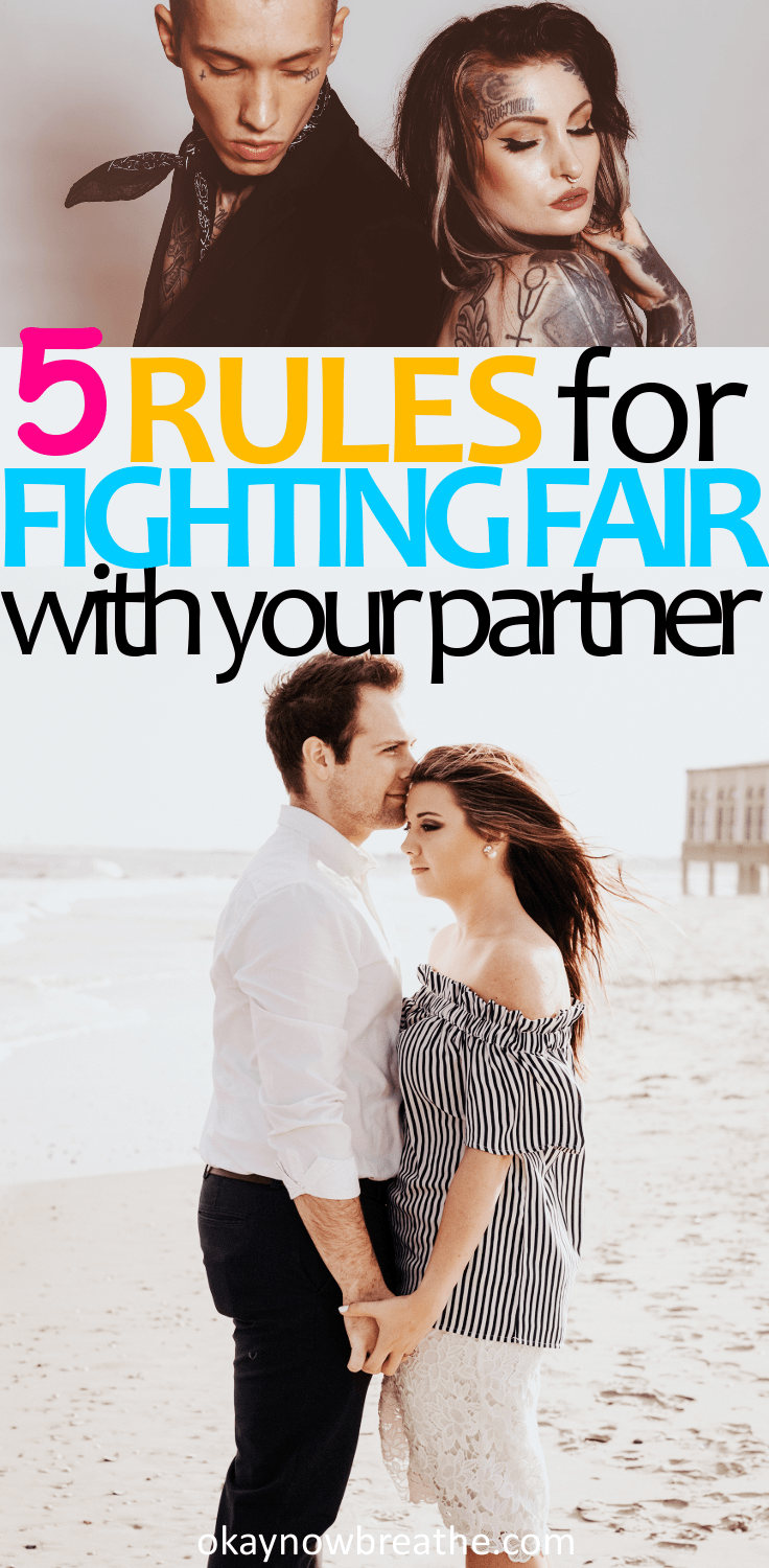 Learning to fight fair is been one of the hardest things for people in relationships. Here are 5 important rules for fighting fair in your relationship: