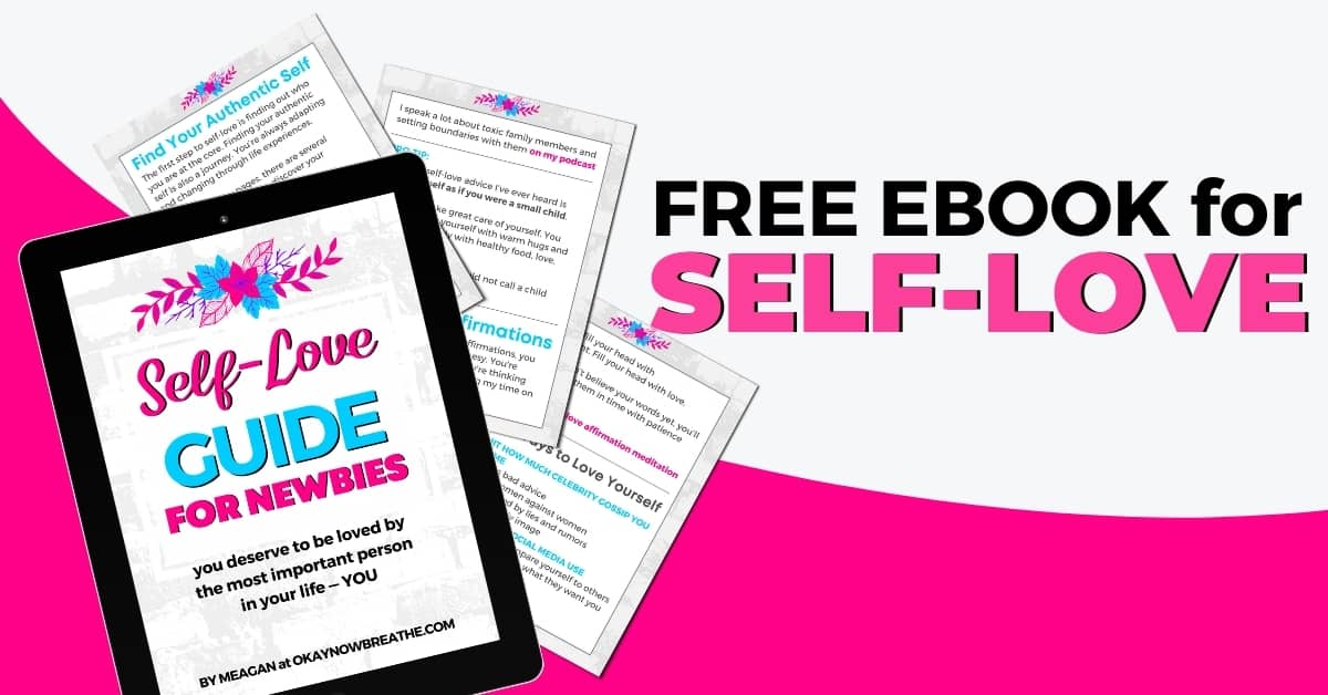 A mockup of self-love guide for newbies - free ebook for self-love