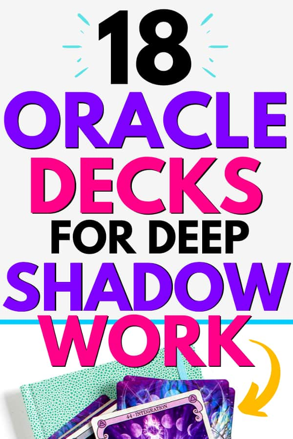 CONSCIOUS SPIRIT deck with title overlay that says 18 Oracle Decks for Deep Shadow Work