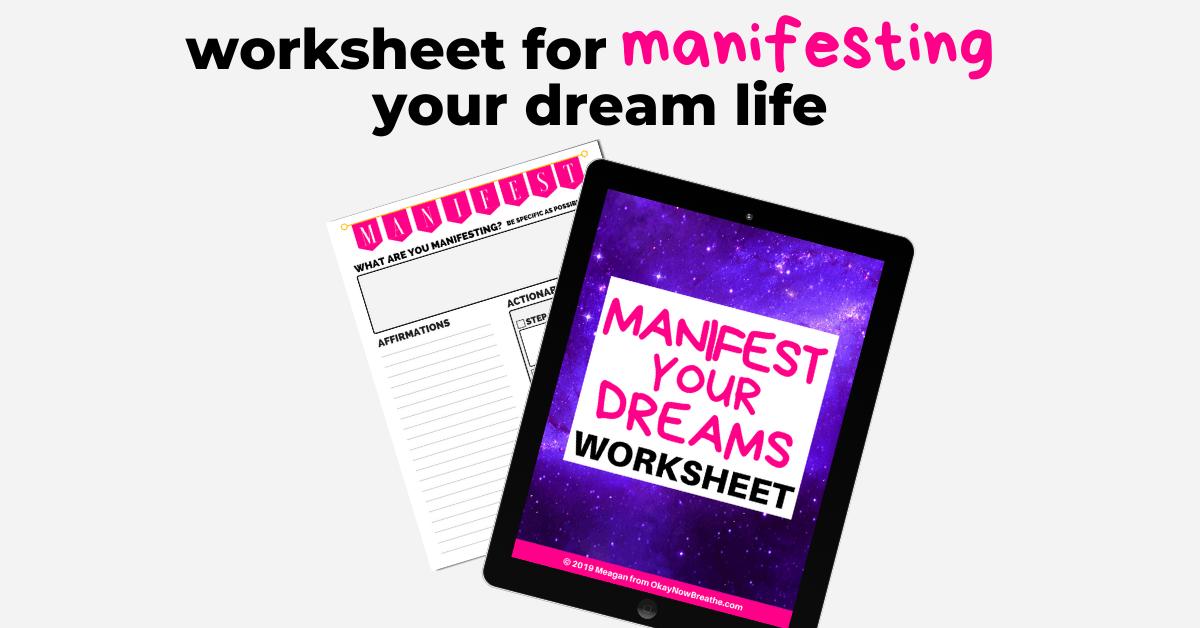 worksheet for manifesting your dream life